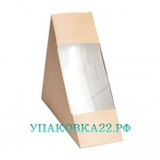 Крафт коробочка с окном - 8 (13*13*18 см)
